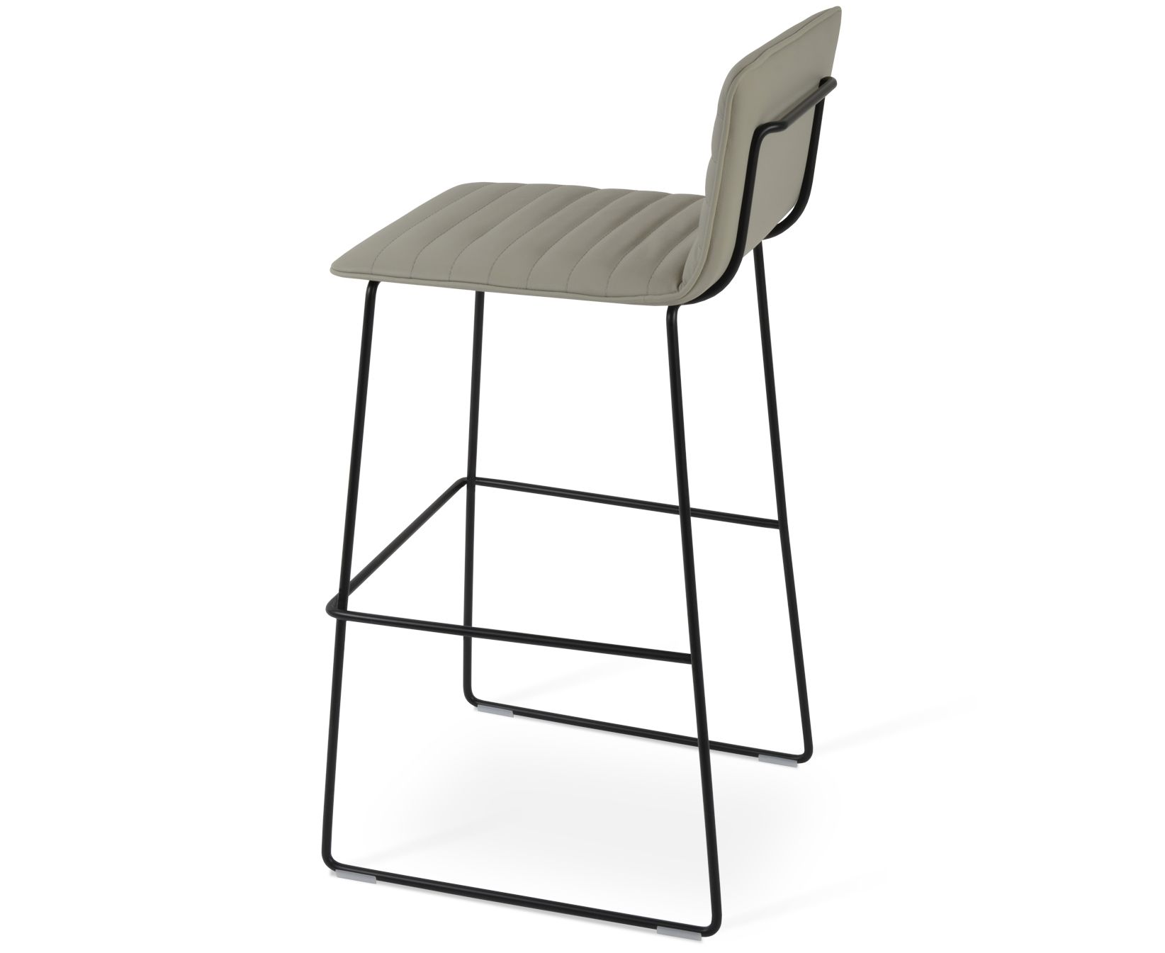 Corona Handle Back Wire Full Upholstery Bar Stool By