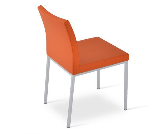 Orange PPM Leatherette on Brushed Stainless Steel