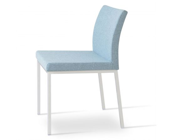 Sky Blue PPM Leatherette on Brushed Stainless Steel