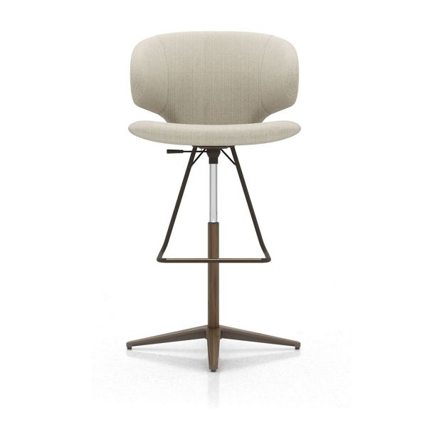 Oxford Tan Fabric and Walnut - Barstool