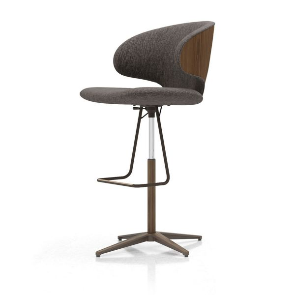 Castlerock Fabric and Walnut - Barstool