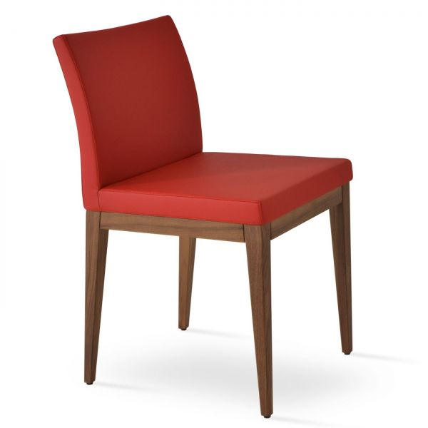 Red PPM Leatherette on American Walnut Wood