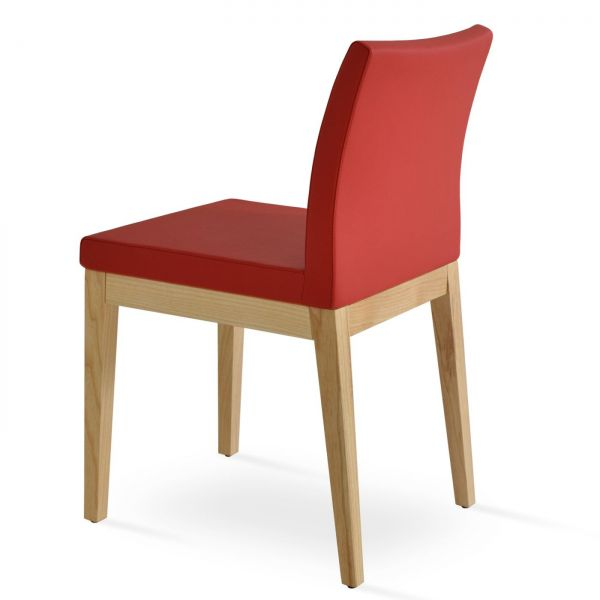 Red PPM Leatherette on American Ash Wood