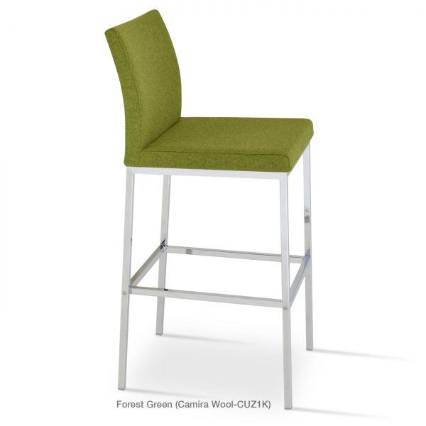 Forest Green Camira Wool on Chrome Plated Steel