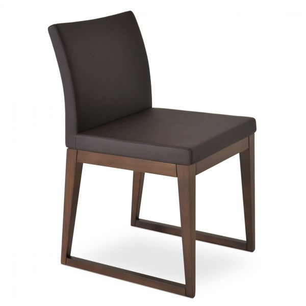 Brown PPM Leatherette on Walnut Finish